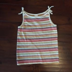 Gymboree girls Striped NET Tank Top sz 7